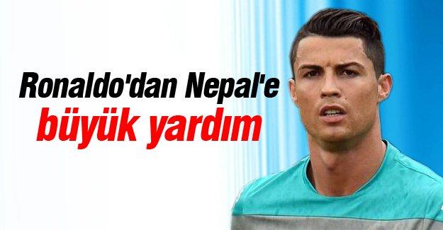 Ronaldo'dan Nepal'e büyük yardım!
