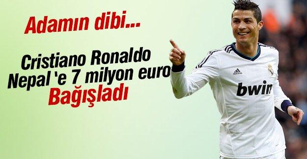 Ronaldo Nepal'e 7 milyon euro bağış yaptı