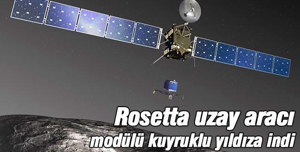 Rosetta uzay aracı modülü kuyruklu yıldıza indi