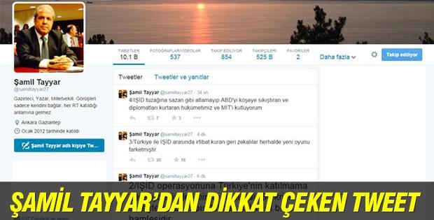 Şamil Tayyar'dan dikkat çeken tweet