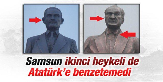 Samsun'da Atatürk heykeli tartışma konusu...