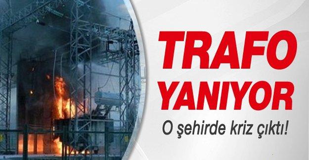 Şanlıurfa'da trafo yangını çıktı