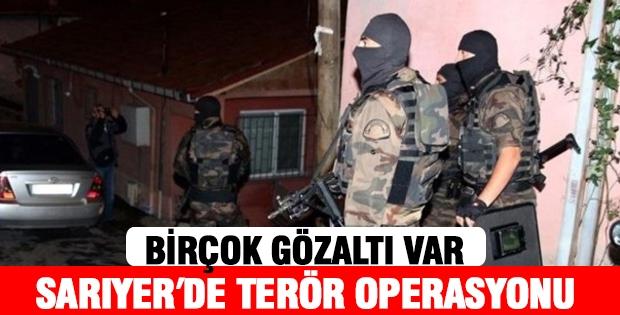 Sarıyer' de Terör Örgütü DHKP-C''ye Operasyon