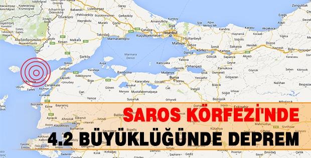 SAROS KÖRFEZİ'NDE 4.2 BÜYÜKLÜĞÜNDE DEPREM, ÇANAKKALE'de Saros Körfezi