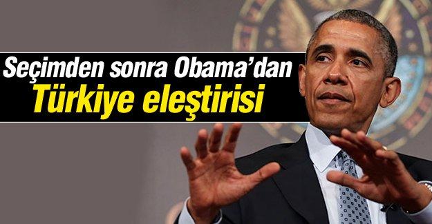 Seçimden sonra Obama'dan Türkiye eleştirisi