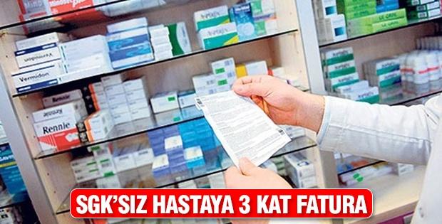 SGK'sız hastaya 3 kat fatura
