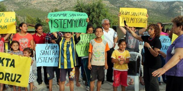 Silifke'de Termik Santral Protestosu