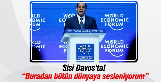 Sisi Davos'ta bütün dünyaya seslendi