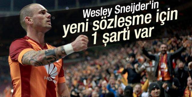 Sneijder'in yeni sözleşme şartı
