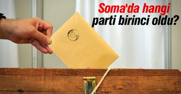 Soma'da hangi parti birinci oldu ?