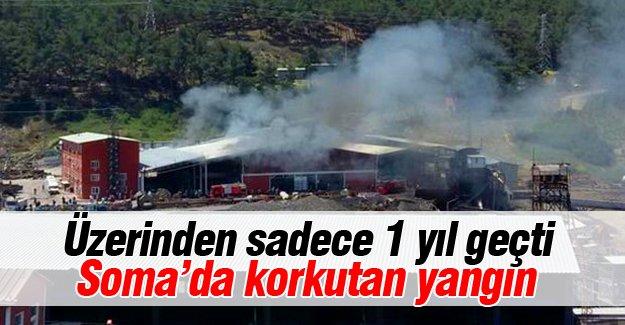 Soma'da korkutan yangın!