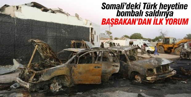 Somali'de Türk Heyetine yapılan bombalı saldırıya Davutoğlu'ndan açıklama