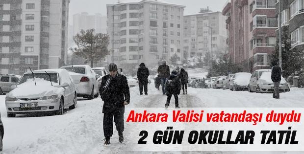 Son Dakika: Ankara'da okullar 2 gün tatil!