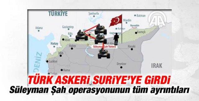 Süleyman Şah operasyonu Türk ordusu Suriye'ye girdi