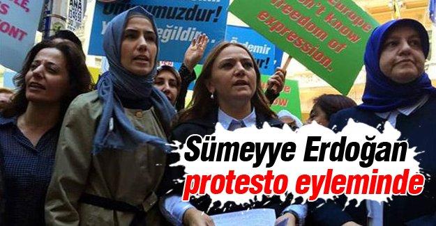 Sümeyye Erdoğan protesto eyleminde