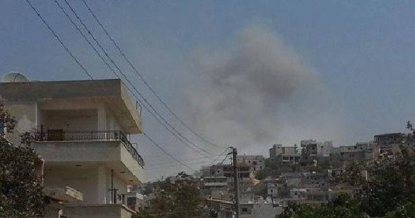 Suriye Uçağı Harim'i Bombaladı