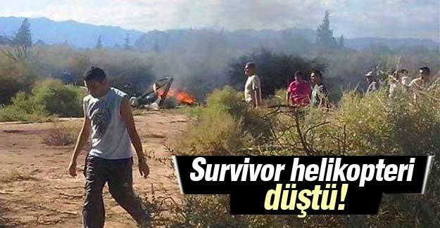 'Survivor' yarışmacılarını taşıyan helikopter kaza yaptı