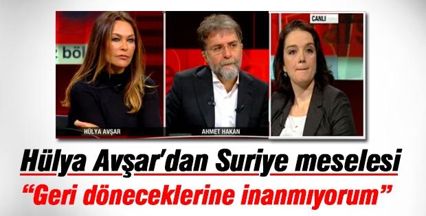 Tarafsız Bölge'ye konuk olan Hülya Avşar Suriye'yi konuştu