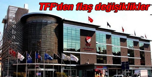 TFF, geçen sezonki bazı kurallarda değişiklik kararı aldı