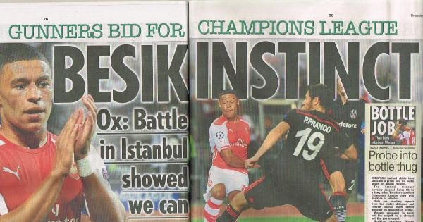 The Sun: Beşiktaş Maçı Arsenal'a Mücadele Ruhu Kazandırdı