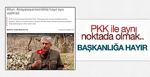 "PKK'dan referanduma ""hayır"" çağrısı"
