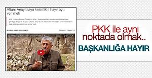 """PKK'dan referanduma """"hayır"""" çağrısı"""