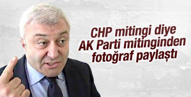 Tuncay Özkan AK Parti mitinginin fotoğrafını paylastı