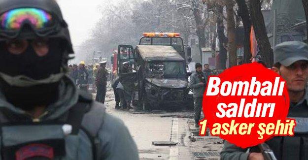 Türk elçilik aracına bombalı saldırı: 1 asker şehit