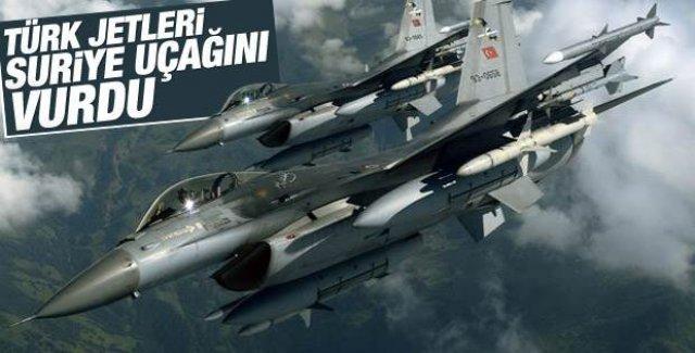 Türk jetleri Esad'a ait hava aracını vurdu