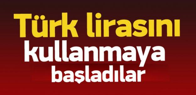 Türk lirası kullanılmaya başlandı