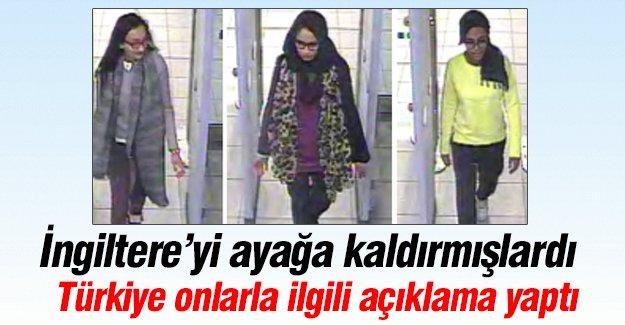 Türkiye, İngiliz kızlar için açıklama yaptı!