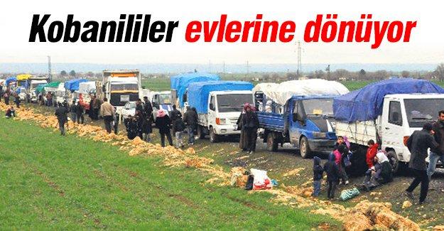 Türkiye'ye sığınan binlerce kişi Kobani'ye dönüyor