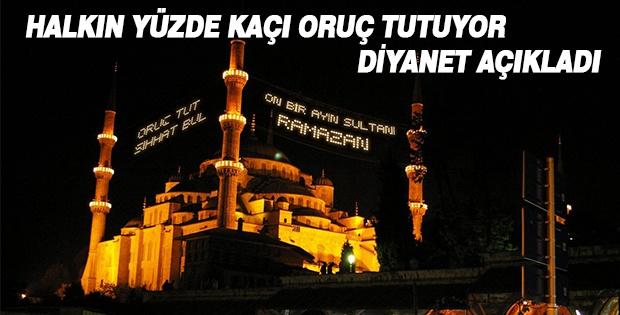 Türkiye'de halkın Kaçta Kaçı Oruç Tutuyor