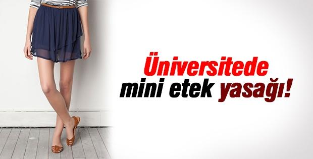 Üniversitede akademisyenlere mini etek yasağı!