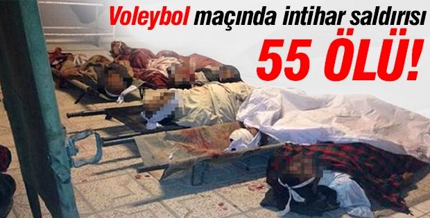 Voleybol maçında intihar saldırısı 55 ölü!