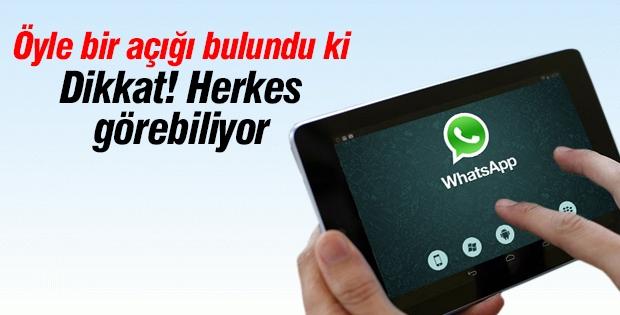 Whatsapp'ta öyle bir açık bulundu ki!