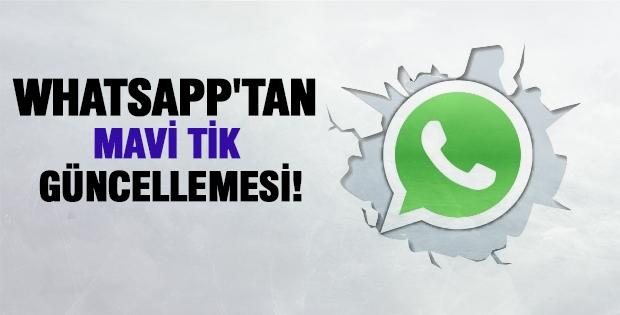 WhatsApp'tan Mavi Tik Güncellemesi!