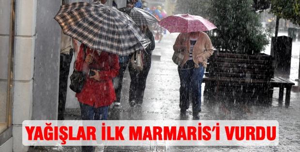 Yağışlar İlk Marmaris'i Vurdu