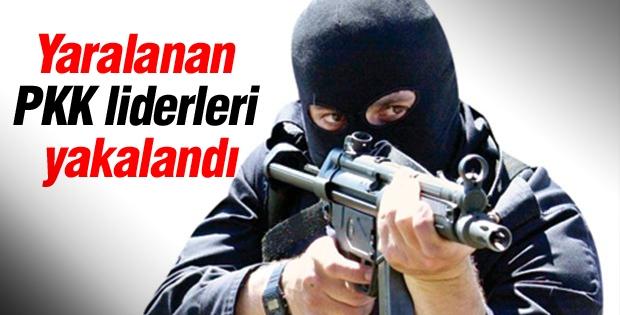 Yaralanan PKK liderleri yakalandı