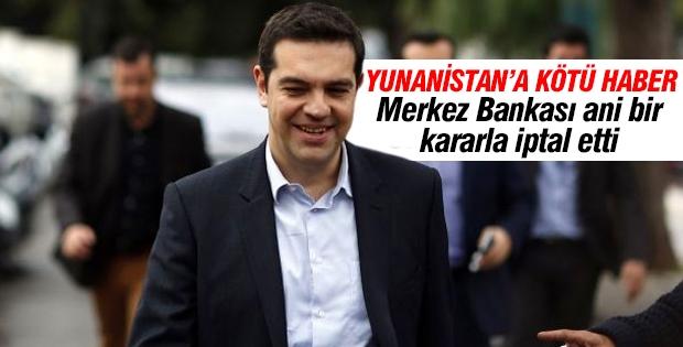 Yunanistan'a kötü haber!