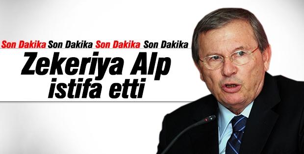 Zekeriya Alp istifa etti