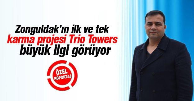 Zonguldak'ın ilk ve tek karma projesi Trio Towers büyük ilgi görüyor