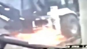 Hakkari'de hendek kazan kepçe böyle vuruldu